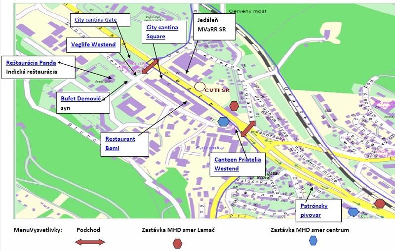 mapa Lamačská