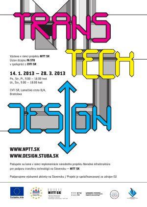 Plagát k výstave Transtechdesign
