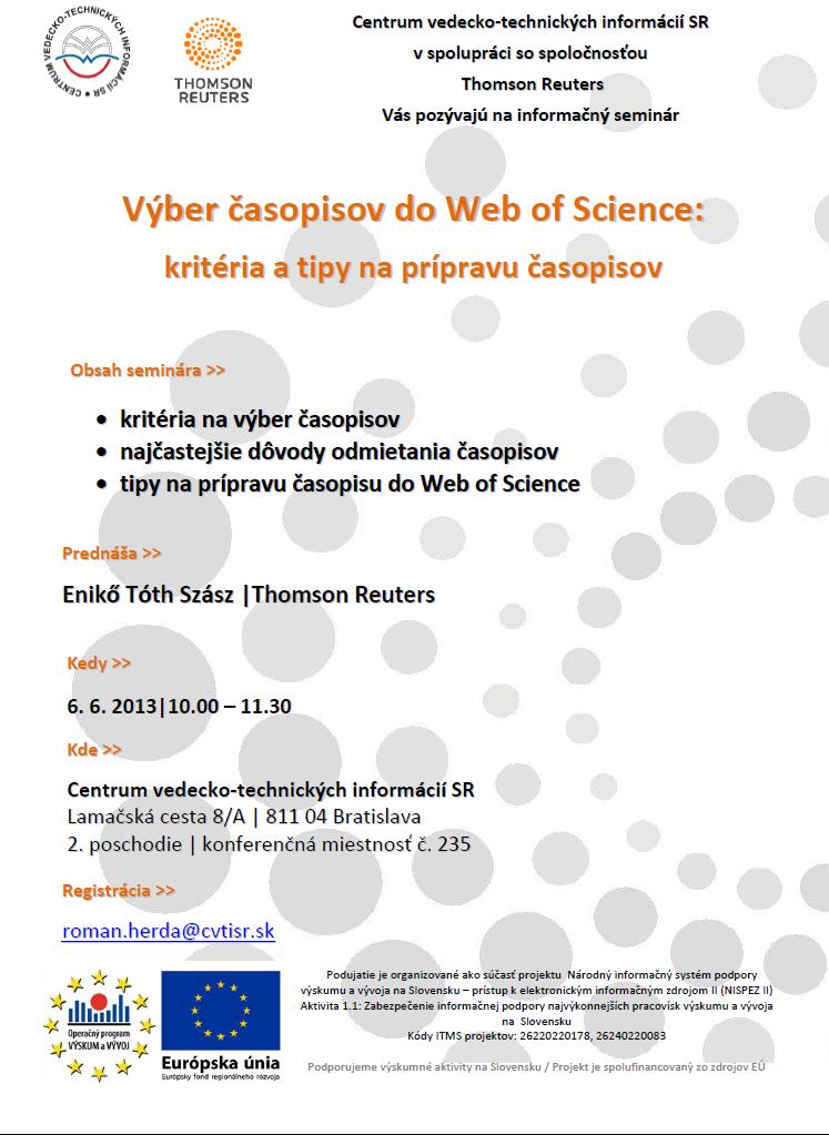 pozvánka na informačný seminár