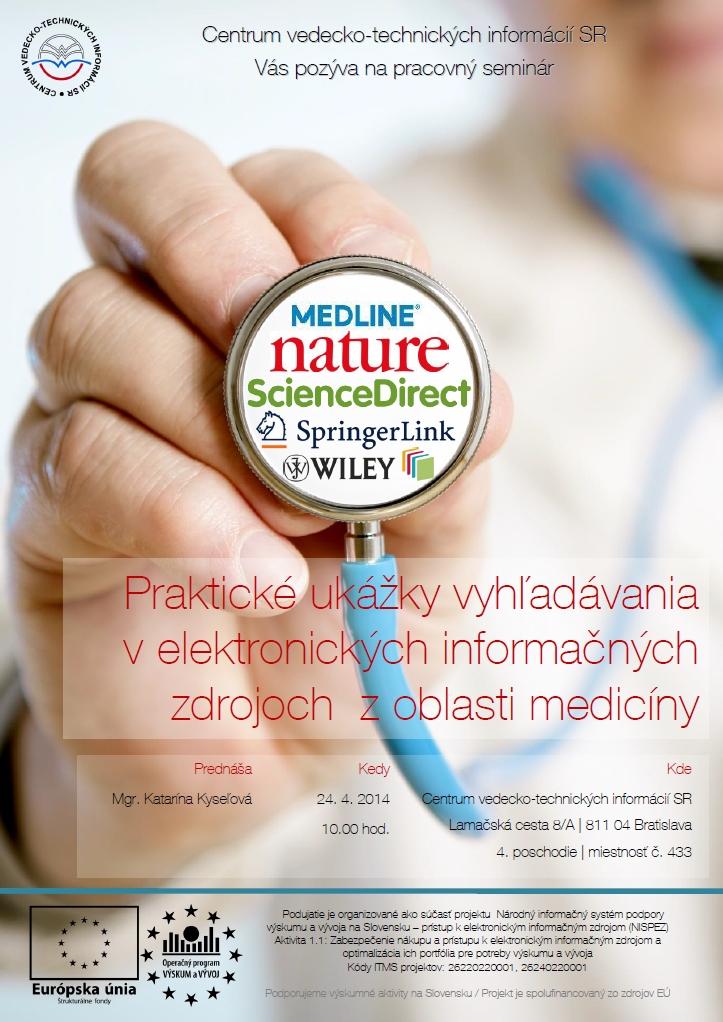 Praktické ukážky vyhľadávania v elektronických informačných zdrojoch  z oblasti medicíny