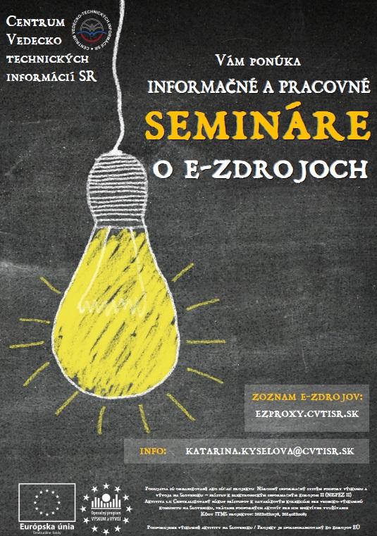 ponuka informačných a pracovných seminárov